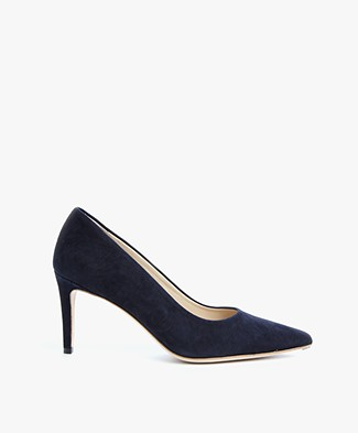 Feraggio Suède Pumps Low - Midnight Blue