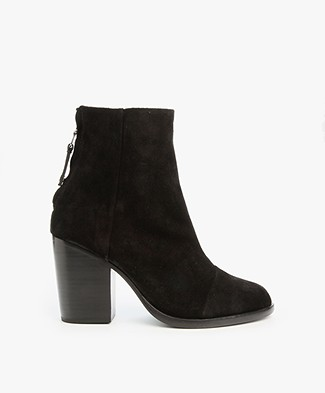 Rag & Bone Ashby Ankle Boots - Black Suede