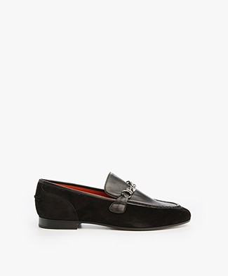 Rag & Bone Cooper Suede Loafer - Black