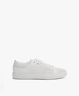 HUGO Connie Leren Sneakers - Wit