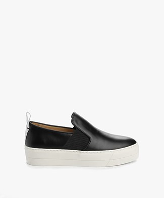 By Malene Birger Slip-On Sneakers Ennita - Black/White