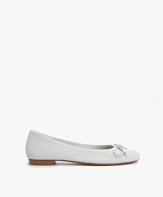 Fred de la Bretonière Leather Ballerina - Off-white