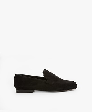 Panara Suede Slip On - Black
