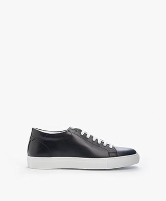 Closed Klassieke Leren Sneakers - Indigo Blauw
