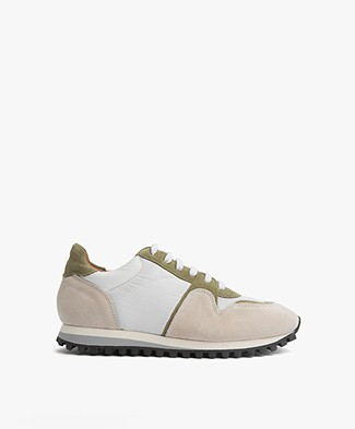 Closed Runner Sneakers - Gewassen Groen/Grijs/Wit