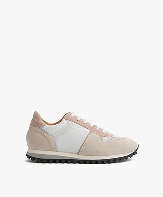 Closed Runner Sneakers - Blush/Grey/White