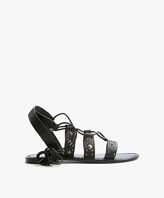 MKT Studio Dusty Leather Sandals - Black