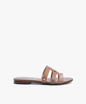 Sam Edelman Berit Leren Slippers - Saddle