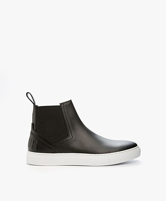 HUGO Erin High Slip-on Sneakers in Leather - Black