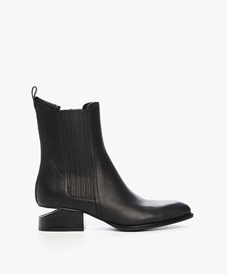 Alexander Wang Anouck Chelsea Boot with Rhodium - Black