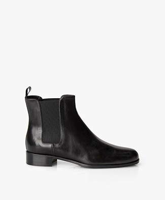 Panara Chelsea Leather Boots - Black