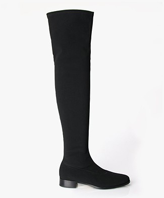 Panara Over The Knee Stretch Boots Black