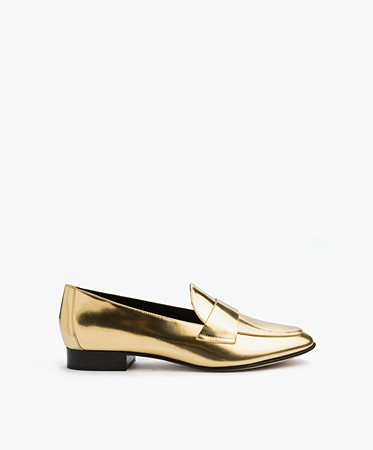 Diane von Furstenberg - Diane von Furstenberg Lafayette Loafers - Gold Metallic Nappa
