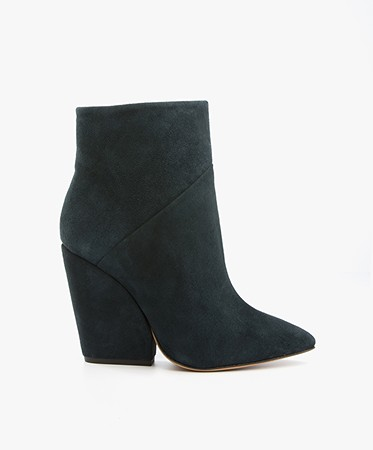IRO Lasdia Suede Ankle Boots - Deep Blue