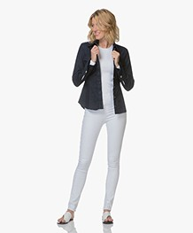 Rag & Bone High Rise Skinny Jeans - Wit