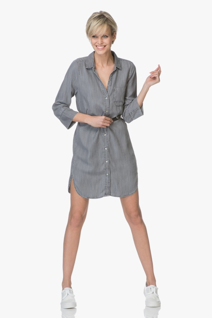 Shop the look the casual shirt dress perfectly basics for Dress shirt vs casual shirt