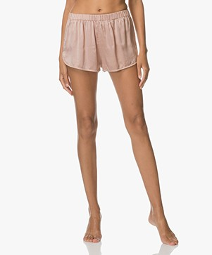 extreme cashmere n°49 Bloom Silk Shorts - Tea Rose