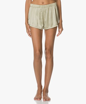 extreme cashmere n°49 Bloom Silk Shorts - Mint