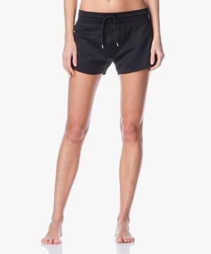 Filippa K Shiny Sweat Shorts - Black