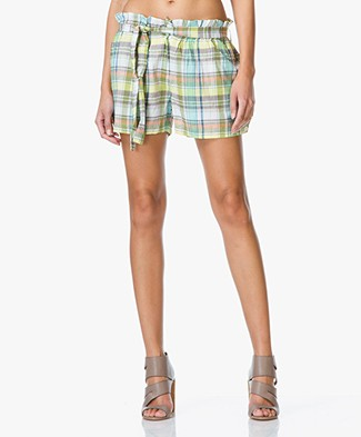 Vanessa Bruno Athé Elvin Shorts in Madrasruit - Multi Color Print