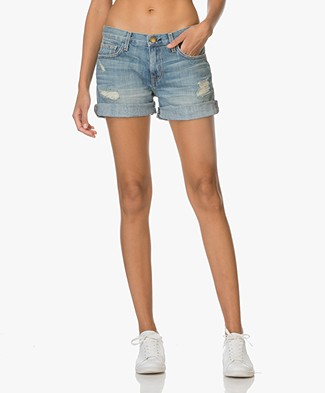 Current/Elliott The Boyfriend Rolled Shorts - Superloved Destroyed