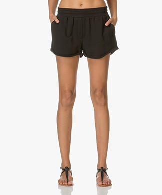 T by Alexander Wang Soft French Shorts - Black