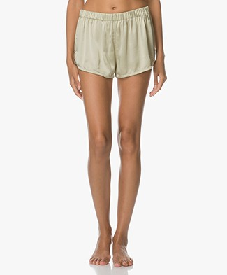 extreme cashmere Bloom Silk Shorts - Mint
