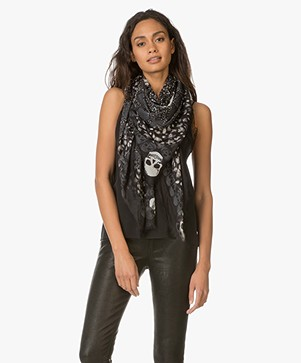 Zadig & Voltaire Kerry Heart Modal Scarf - Black