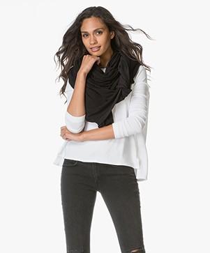 BRAEZ X PB Super Soft Jersey Sjaal - Zwart