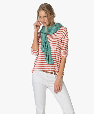Marie Sixtine Checkered Bolo Scarf - Checks Billard