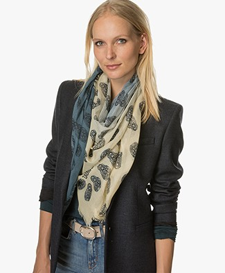 Zadig et Voltaire Faded Scarf Kerry - Jeans