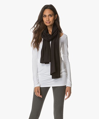 BRAEZ Soft Thin Jersey Scarf - Black
