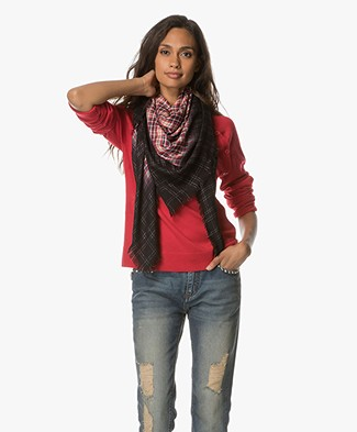 Zadig et Voltaire Scotty Scarf - Red