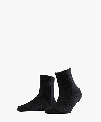 FALKE Ultra Soft Bed Socks - Black