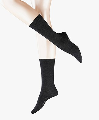 FALKE Softmerino Socks - Anthracite Grey Melange
