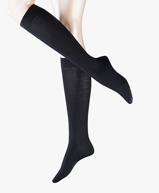 FALKE Softmerino Knee Socks - Dark navy