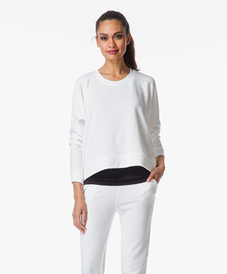 T by Alexander Wang Soft French Terry Sweatshirt - White