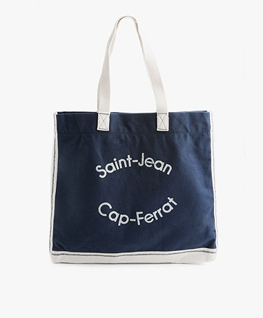 MKT Studio Baci Katoenen Shopper - Navy