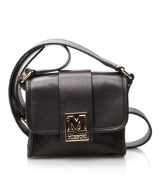 M Missoni Small Shoulder Bag - Black