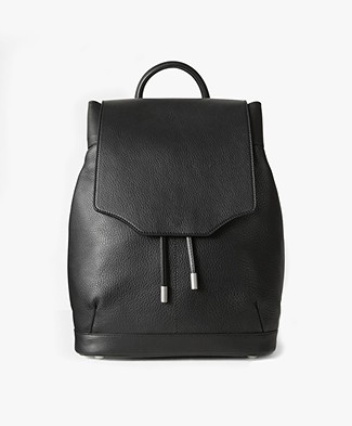 Rag & Bone Micro Pilot Leather Backpack - Black