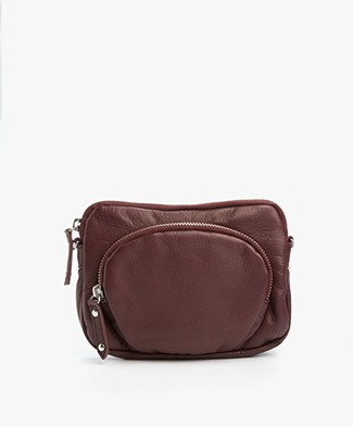 Filippa K Mini Leren Tas - Bordeaux