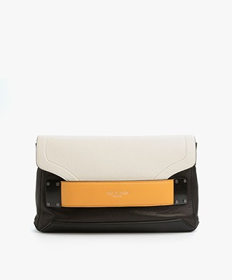 Rag & Bone Pilot Leren Clutch - Margld Multi