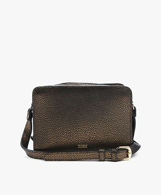Closed Boxy Shoulderbag - Old Gold Matt