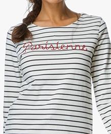 MKT Studio Talia T-shirt - Crème/Navy