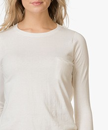 BY-BAR Blow Katoenen Pullover - Off-white