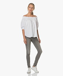 FWSS Young Offenders Off-shoulder Top - Bright White