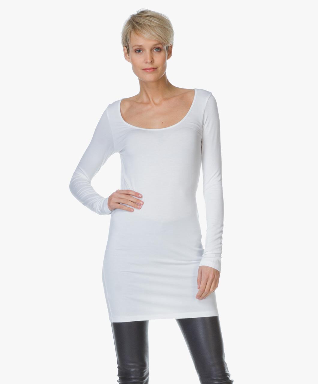 Baukjen Extra Long T Shirt Essential Pure White