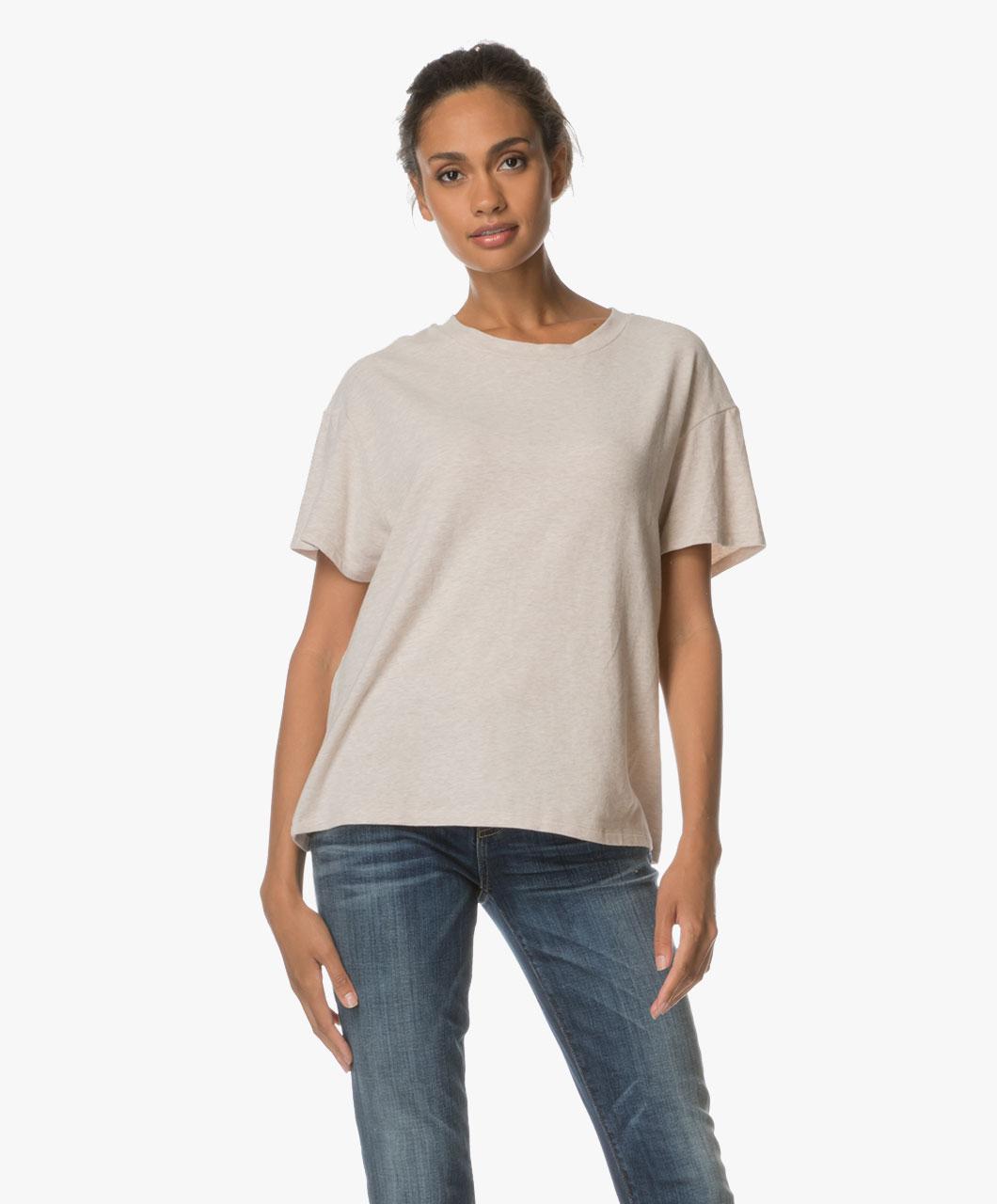 drykorn kyla super soft jersey t shirt beige kyla 507208 59. Black Bedroom Furniture Sets. Home Design Ideas