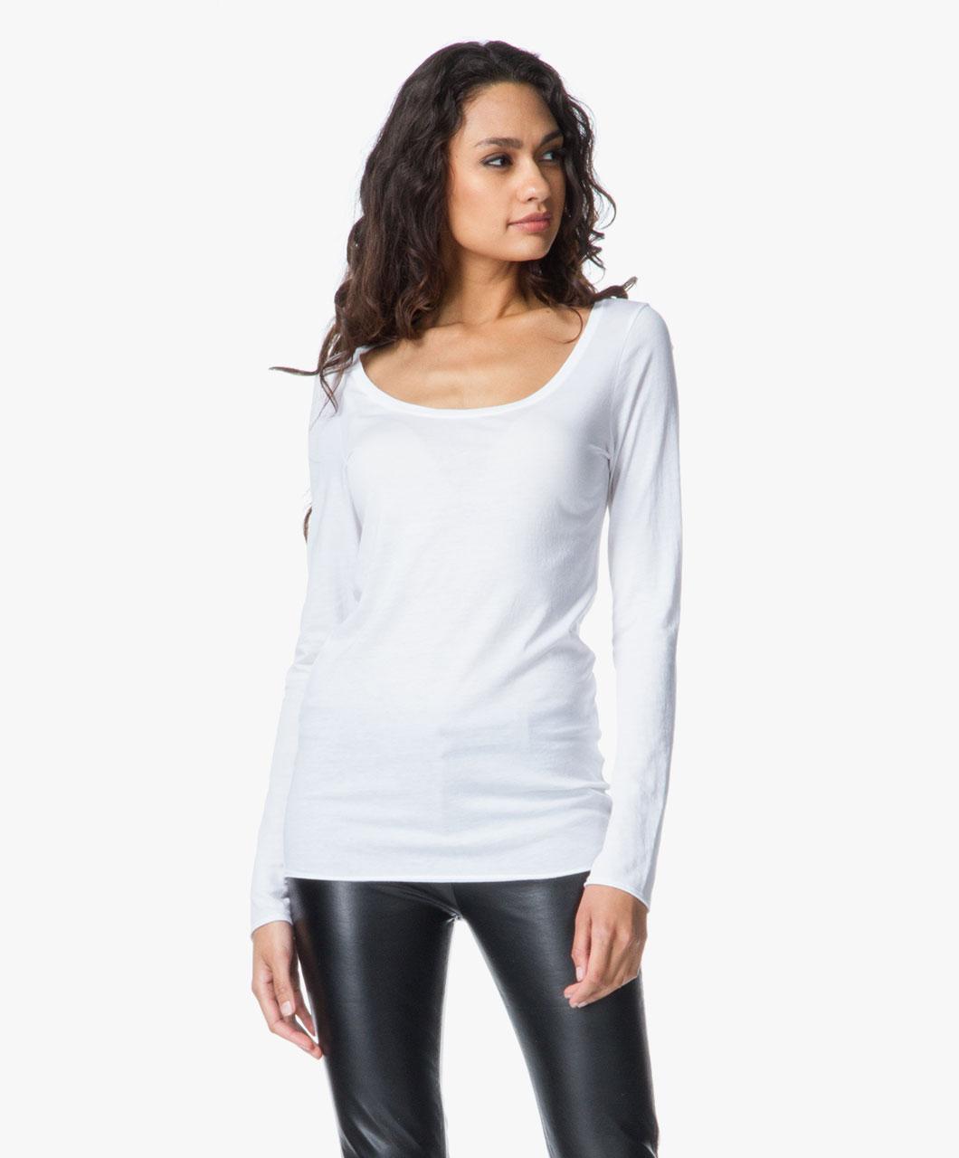 drykorn lina basic t shirt white lina 60 perfectly basics. Black Bedroom Furniture Sets. Home Design Ideas