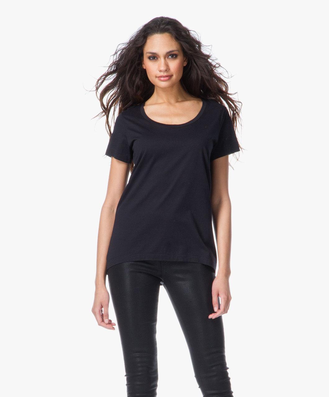drykorn luna t shirt black luna 500206 1000. Black Bedroom Furniture Sets. Home Design Ideas